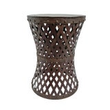 Image of Vintage Iron Weave Side Table For Sale
