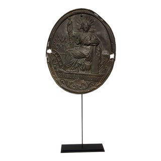 """French Marianne """"Triumph of the Republic"""" Medallion For Sale"""