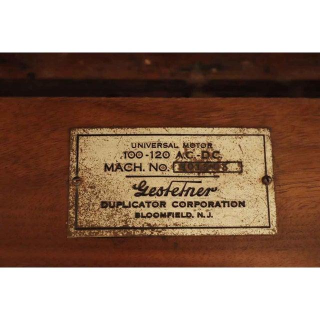 1920's Vintage Gestetner Duplicator Machine Wooden Cabinet For Sale - Image 4 of 9