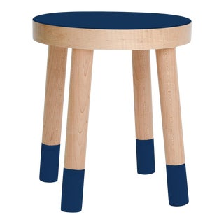 Poco Kids Chair in Maple With Deep Blue Finish For Sale