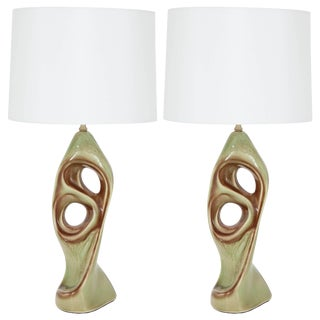 1950s West German Ceramic Lamps - a Pair For Sale