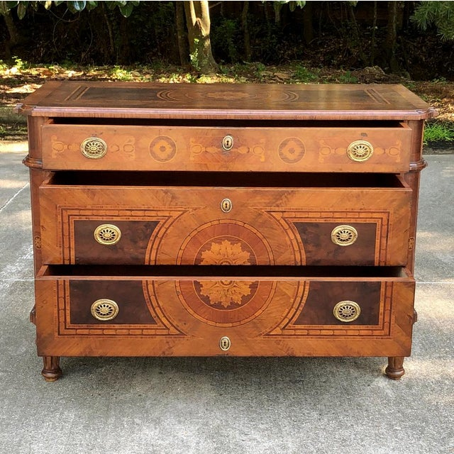 Antique Italian Marquetry Commode For Sale - Image 11 of 13