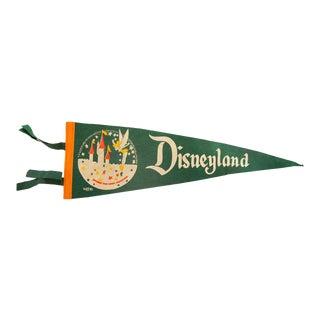 Vintage Disneyland Felt Flag Pennant