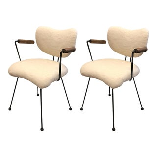 Colette Gueden Attributed Ant Shaped Witty Pair of Chairs For Sale