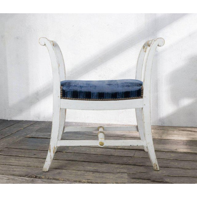 French Small French Empire Style Bench For Sale - Image 3 of 11