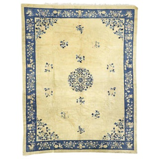 Chinese Peking Rug With Chinoiserie Chic Style - 8′11″ × 11′4″ For Sale