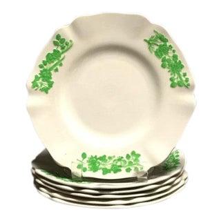 """Vintage Spode Copeland """"Shamrock"""" Plates - Set of 6 For Sale"""