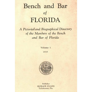 "1935 ""Bench and Bar of Florida: V. 1"" Preview"