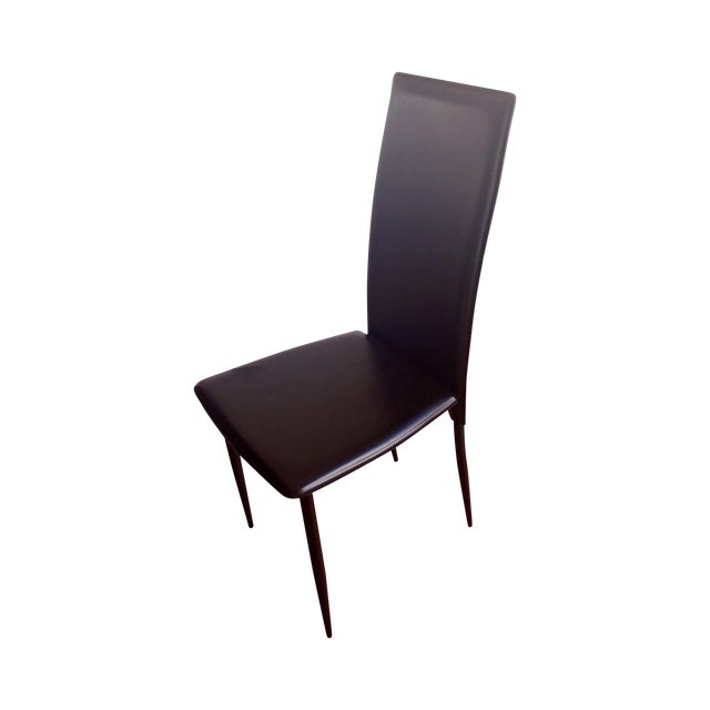 Modern Domitalia Black High-Back Chairs - Set of 6 - Image 1 of 4