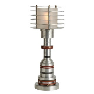 Extremely Rare Walter Von Nessen Table Lamp Circa 1935