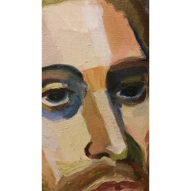 Mid-Century Male Portrait Study Attributed to Annjane Lighthall - Image 4 of 6