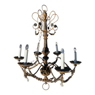 Italian Neoclassical Chandelier, Circa 1930 For Sale
