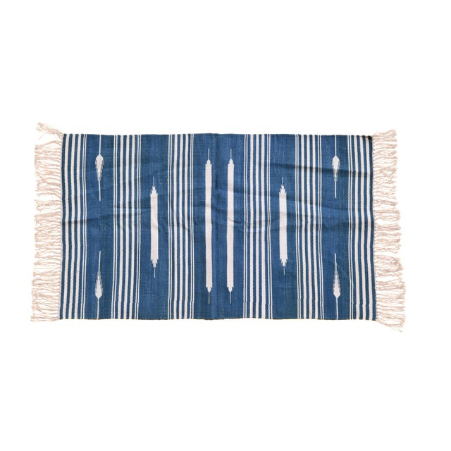 Boho Chic Hazel Rug, 10x14, Blue & White For Sale - Image 3 of 3