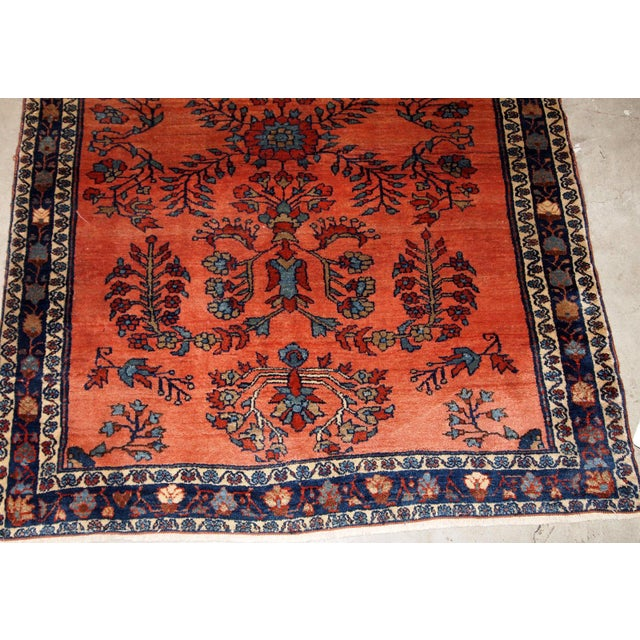 1900 - 1909 1900s Handmade Antique Persian Sarouk Rug For Sale - Image 5 of 9
