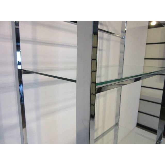 Mid-Century Modern 1970's Chrome and Glass Etagere For Sale - Image 3 of 6