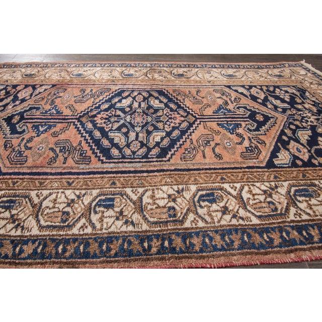 "Textile Antique Hamadan Rug- 3'5"" x 6' For Sale - Image 7 of 7"