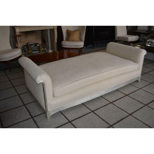 Early 20th Century Art Deco / Moderne Silver Leafed Daybed For Sale - Image 5 of 9