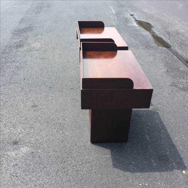 Directional Mid-Century Nightstands - A Pair - Image 6 of 11