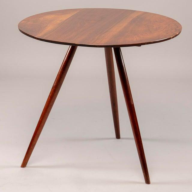 George Nakashima Splayed Leg Round Side Table For Sale - Image 10 of 10