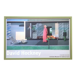 "David Hockney Rare Vintage Lithograph Print Framed Exhibition Poster "" Beverly Hills Housewife "" 1966 For Sale"