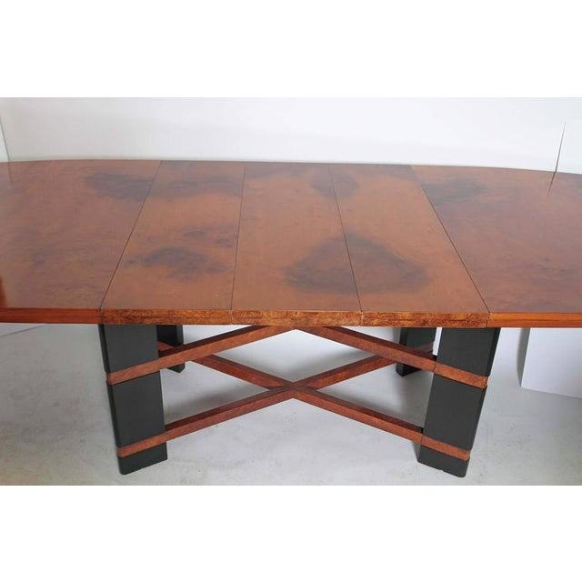 Brown Art Deco Hastings Dining Table / Chairs Double X-Base Teague / Deskey For Sale - Image 8 of 11