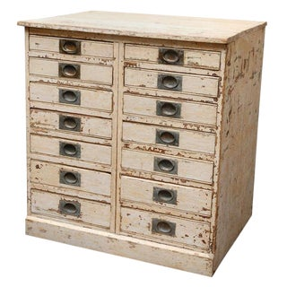 1860s English Collector's Drawer Cabinet Chest For Sale