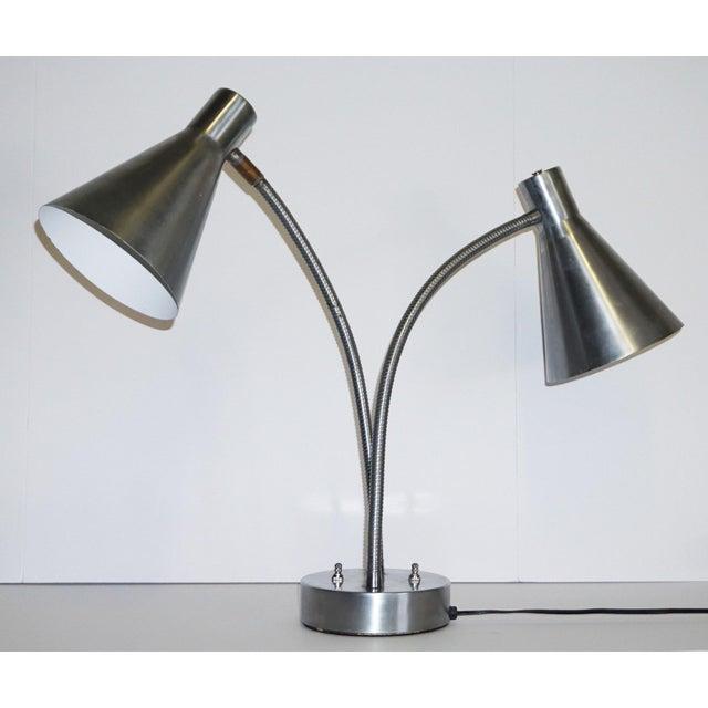 Industrial Double Loop Task Lamp For Sale In Palm Springs - Image 6 of 6