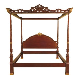 King Size Mahogany Full Canopy Top Poster Bed