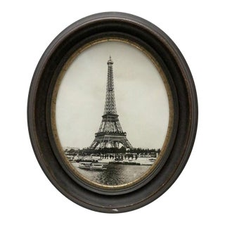 1910 Eiffel Tower, Oval Frame For Sale