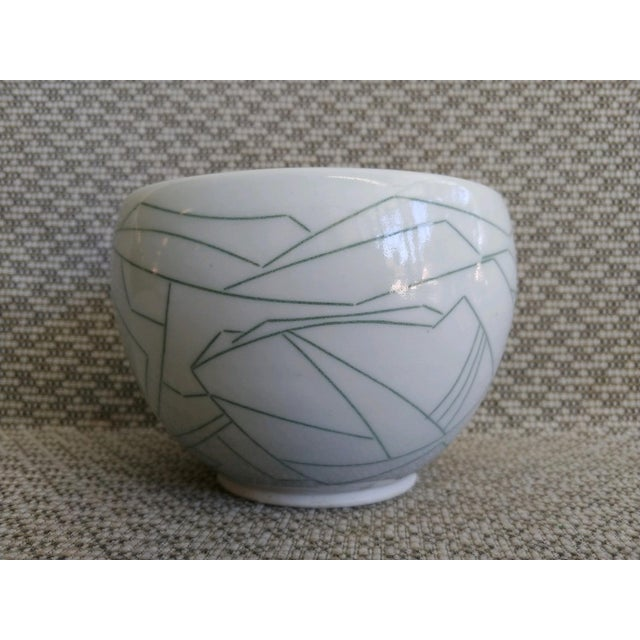 Contemporary Daric Harvie Art Deco Cubist Style Bowl For Sale - Image 3 of 9