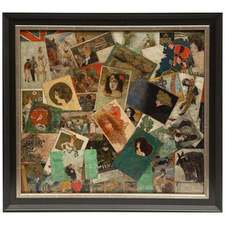 Raphael Kirchner and Other Artists, Trompe L' Oeil on Panel, Signed For Sale