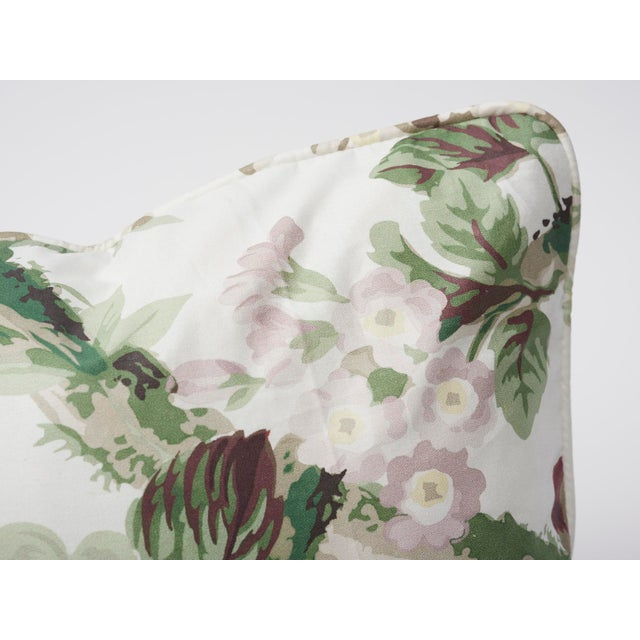 Contemporary Schumacher Double-Sided Pillow in Nancy Glazed Cotton Print For Sale - Image 3 of 8