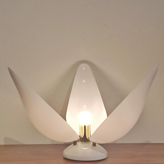 """Rougier Maurice Chalvignac for Rougier """"Tulip"""" Table Lamp For Sale - Image 4 of 5"""