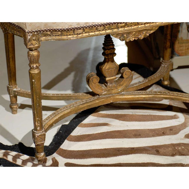 Oversized Louis XVI Gilded Stool For Sale - Image 5 of 7