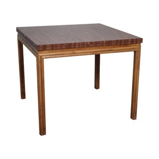 Ficks Reed Rattan Base Expandable Game Table For Sale