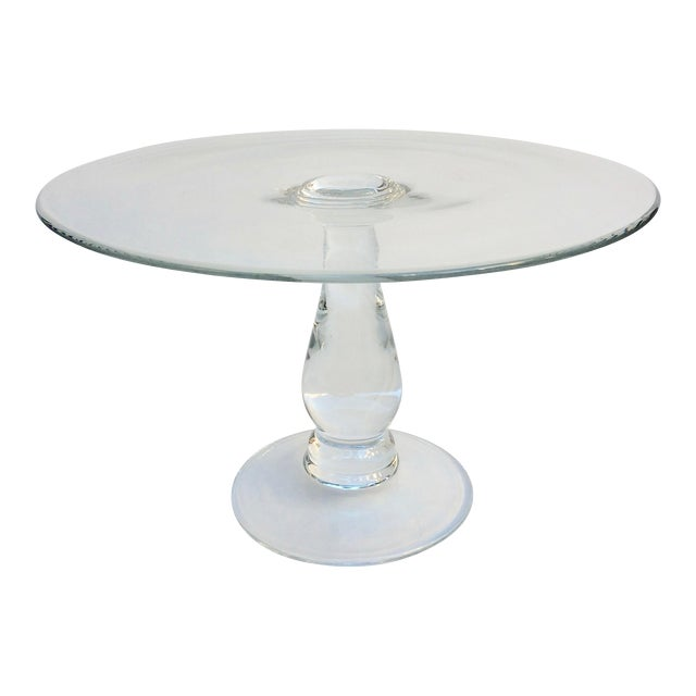Tall Glass Cake Stand - Image 1 of 4
