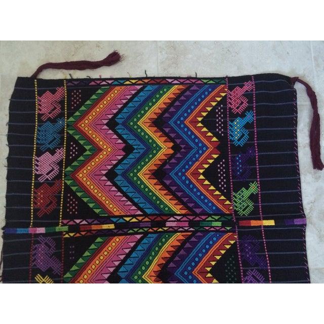 Vintage Guatemalan Textile For Sale - Image 5 of 7