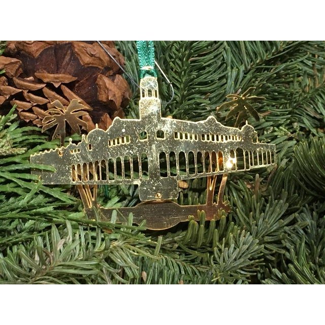 Christmas Tree Ornament depicting The Lake Worth Casino and Baths. Dated 2001. From Lake Worth Florida.