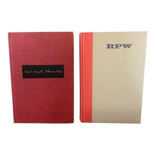 Final Price! Vintage Books in Red Tones — Set of 2 For Sale