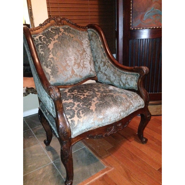 Handcrafted French Louis XV Style Bergere Chair - Image 8 of 10