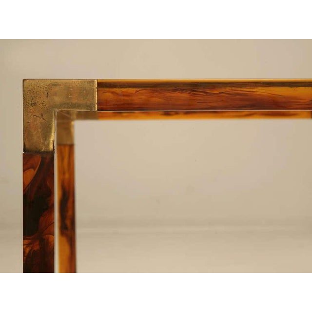 Gold Circa 1960s Faux Tortoise Shell Coffee Table For Sale - Image 8 of 10