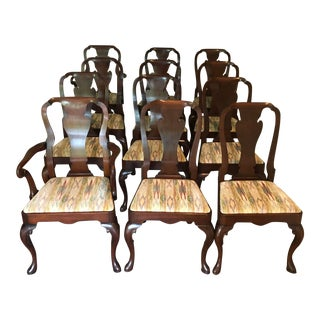 1960s Queen Anne Dining Chairs - Set of 12 For Sale