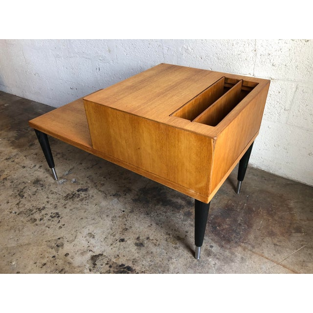 Mid-Century Modern Vintage Mid Century Modern Phone Table by Raymond Loewy for Mengel Furniture For Sale - Image 3 of 13