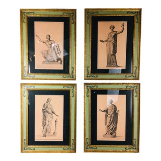 Mid-Century Neoclassical Prints - Set of 4 For Sale