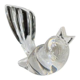 Mid-Century Steuben Glass Songbird Figurine, Signed For Sale