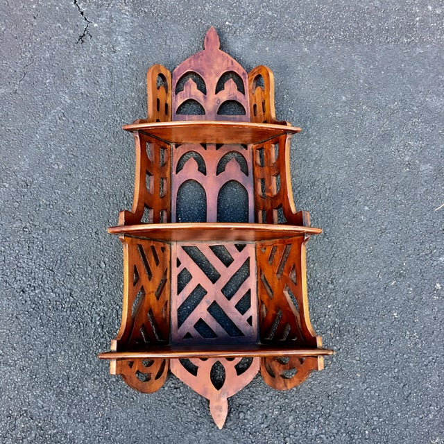 Mahogany Chippendale Style Mahogany Three Tier Shelves For Sale - Image 7 of 7