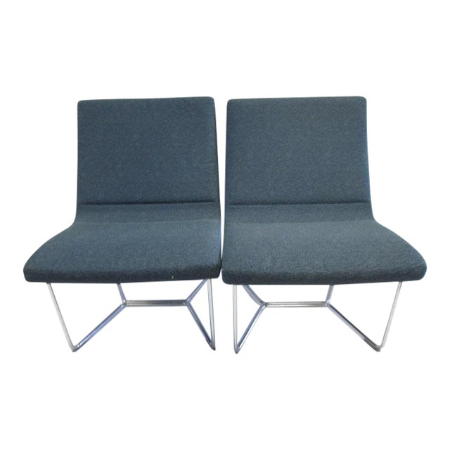 Harter Forum Seat Lounge Chairs - A Pair For Sale