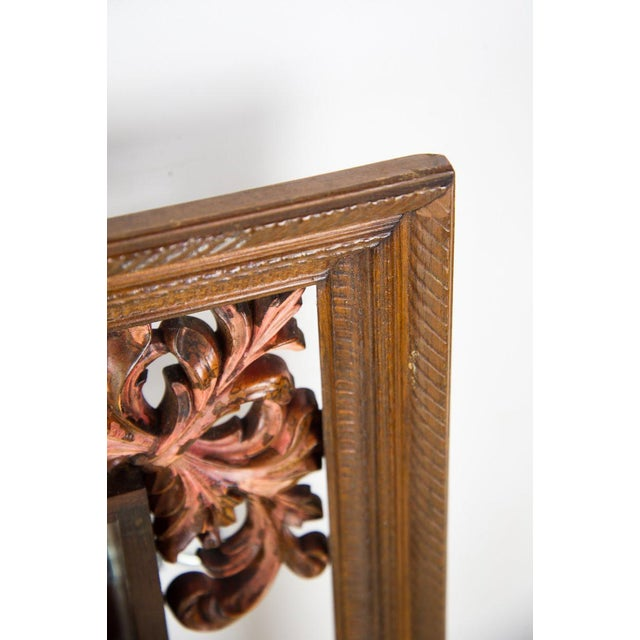 1960s Victorian Mahogany Decorative Wall Mirror With Shelves For Sale In Atlanta - Image 6 of 9