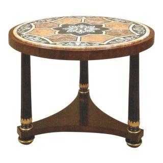 Maitland-Smith French Empire Pietra Dura Center Table