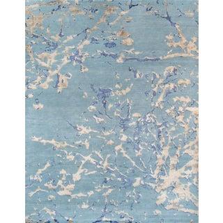 "Pasargad Modern Silk & Wool Area Rug - 6'3"" x 9' For Sale"